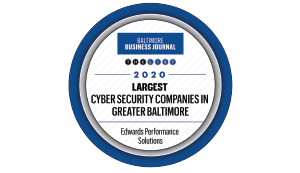 Baltimore Business Journal 2020 Largest Cybersecurity Company Award