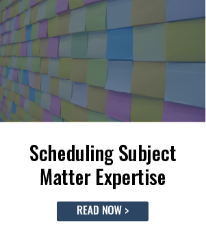 Scheduling Subject Matter Expertise