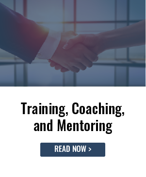 Training, Coaching, and Mentoring